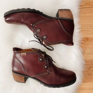 Pikolinos Le Mans Booties in Bordeaux 42/US11.5-12
